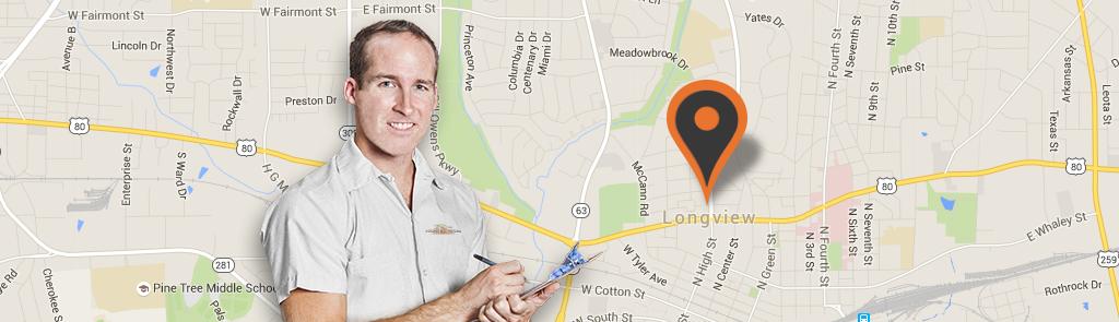 Longview/Tyler service area